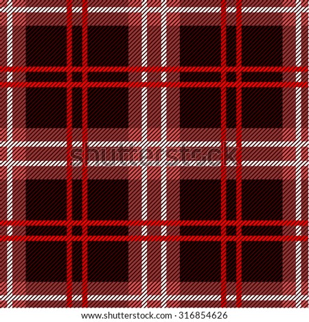 Seamless checkered plaid pattern. Black, red, brown. Backgrounds & textures shop. - stock vector