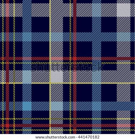 Seamless checkered shirt pattern. - stock vector
