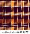 Seamless checkered vector pattern - stock vector