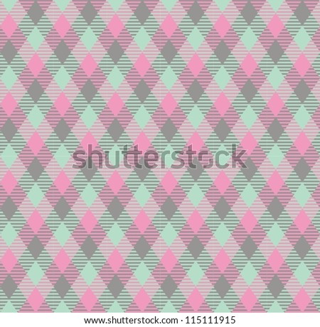 Seamless checkered vector pattern (tartan).