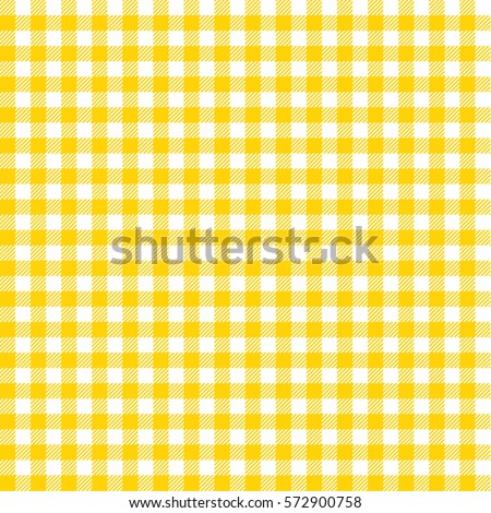Seamless Checkered Vector Pattern. Vintage Yellow Plaid Fabric Texture.  Abstract Geometric Background. Vintage