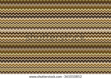 Seamless chevron pattern in brown and beige. art background - stock vector