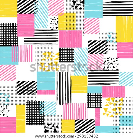 seamless childish patterns vector - stock vector
