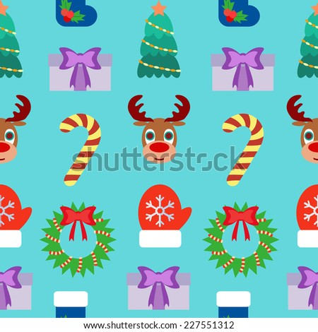 Seamless Christmas Background. Flat design