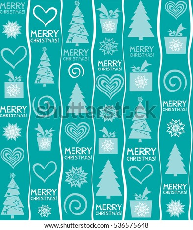 Seamless Christmas Background Merry Wallpaper Illustration