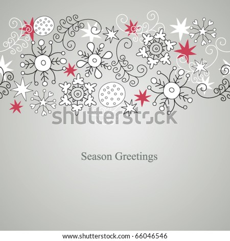 seamless christmas ornament - stock vector
