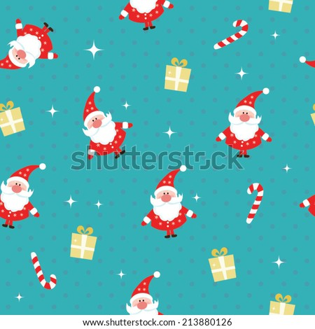 Seamless Christmas pattern. EPS 10 vector illustration - stock vector