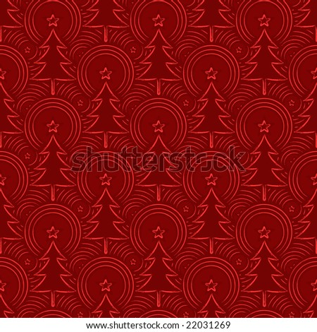 Seamless christmas pattern. Three paths. You'll edit the colors in a second! - stock vector