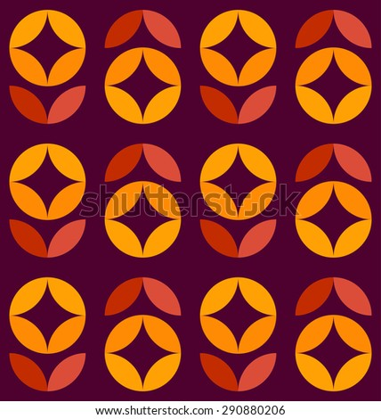 Seamless Circle and rhombus Pattern. Abstract Geometric background. Flowers seamless pattern. Floral background. Grid background. Abstract colorful background. Petals pattern. Vector regular Texture.  - stock vector