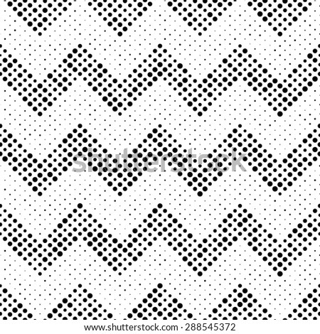 Seamless Circle and ZigZag Pattern. Abstract  Monochrome Background. Vector Regular Texture