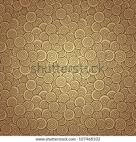 Seamless circle background, seamless pattern with round shapes - stock vector
