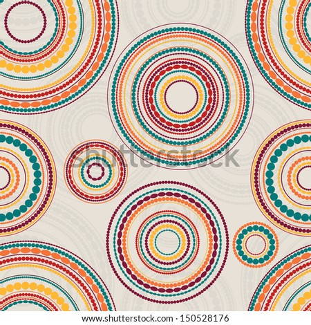 Seamless Circle Background. Seamless pattern with round shapes. - stock vector