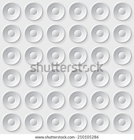 Seamless circle buttons background pattern - stock vector