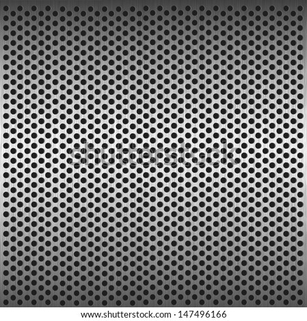 Seamless circle metal grill pattern background