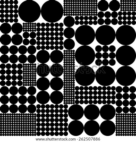 Seamless Circle Pattern. Vector Regular Texture - stock vector