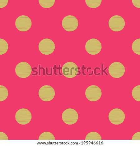 seamless circles polka dots pattern - stock vector