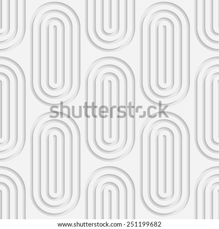Seamless Circular Pattern. Vector Soft Background. Regular White Texture - stock vector