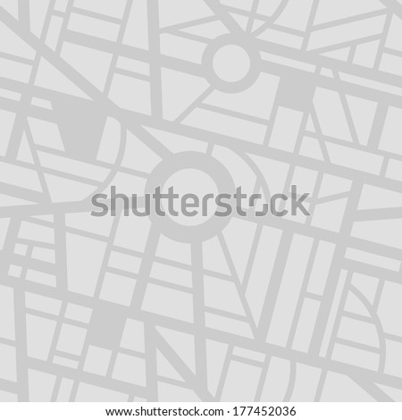 Seamless city map pattern - stock vector