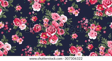 Seamless Classic Floral Pattern in vector - stock vector