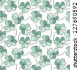 Seamless clover pattern, vector background for St. Patrick's Day - stock vector