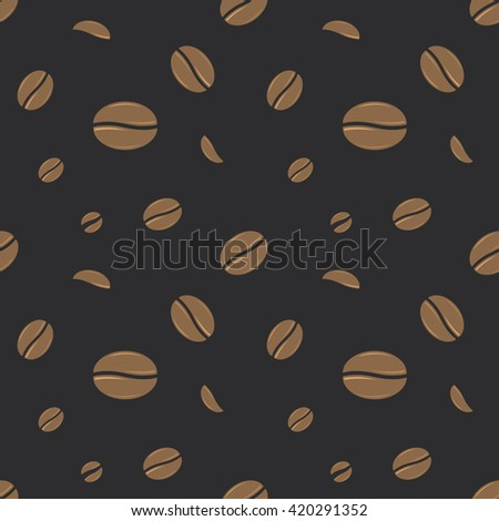 Seamless Coffee Beans Cafe Decorative Pattern Background