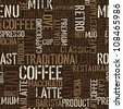 Seamless coffee experience pattern. Vector, EPS8. - stock photo