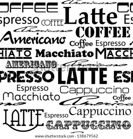 Seamless coffee pattern. Vector eps 10 illustration. - stock vector