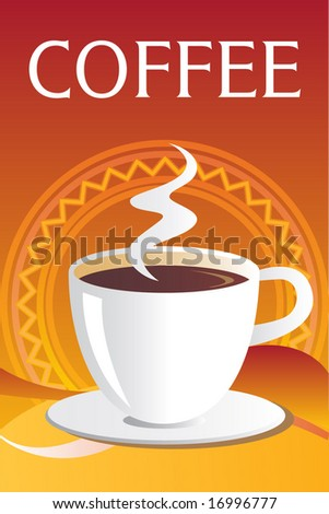 Seamless Coffee Template, Background. Vector. For more illustrations VISIT MY GALLERY. - stock vector