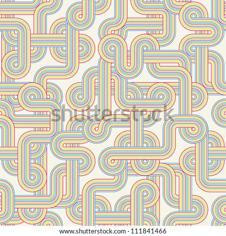 Seamless color abstract pattern. Vector illustration - stock vector