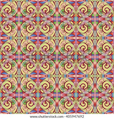 seamless color pattern of stained glass