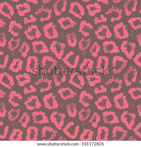 Seamless colorful animal skin textures of leopard