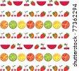 seamless colorful fruit background. Vector illustration - stock photo