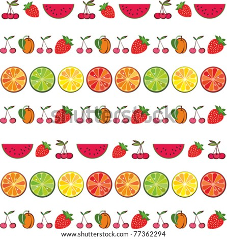 seamless colorful fruit background. Vector illustration - stock vector