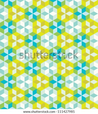 Seamless colorful geometric pattern. Vector art illustration.