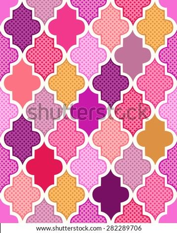 seamless colorful islamic pattern background - stock vector