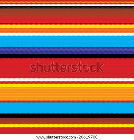 seamless colorful mexican fabric pattern - stock vector