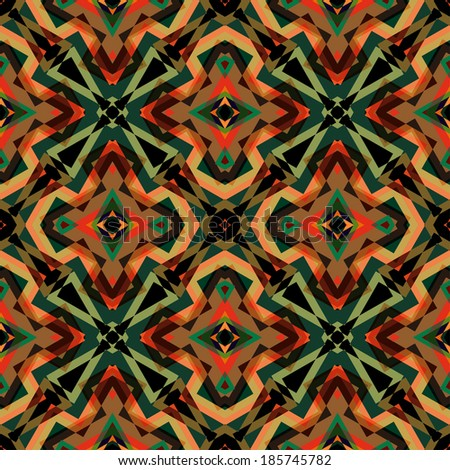 Seamless Colorful Retro Pattern Background, Vector Illustration - stock vector