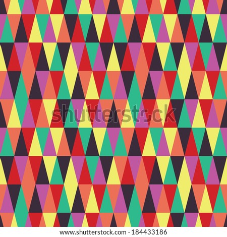 seamless colour inspiration - stock vector