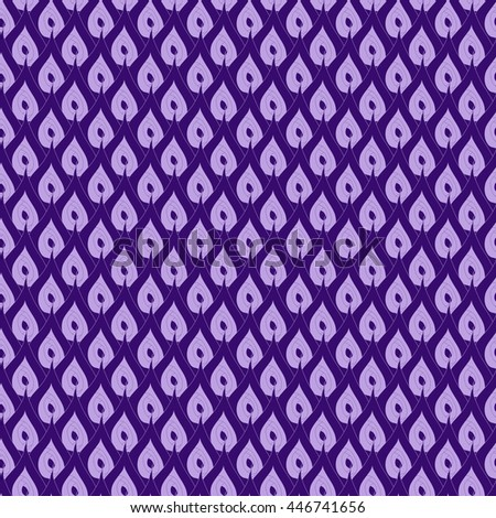 Seamless creative hand-drawn pattern of abstract elements in pale lilac and dark violet colors. Vector illustration.