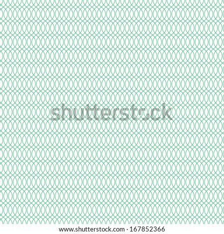 Seamless cross pattern in green color. For banknote, money design, currency, note, check (cheque), ticket, reward. Vector . - stock vector