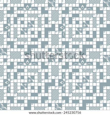 Seamless crossword grid pattern, can be used as background. Color easily changed. Without clipping mask.  - stock vector