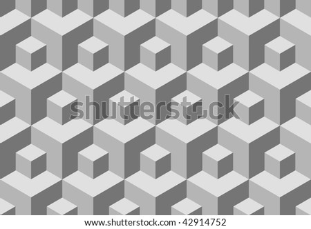 Seamless cubes background. Vector pattern for continuous replicate. - stock vector