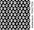 seamless cute skull pattern - stock vector