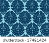 Seamless Damask background from a floral ornament, Fashionable modern wallpaper or textile - stock vector