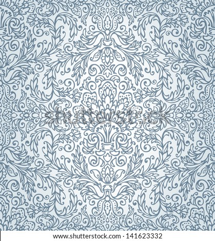 Seamless damask pattern. - stock vector