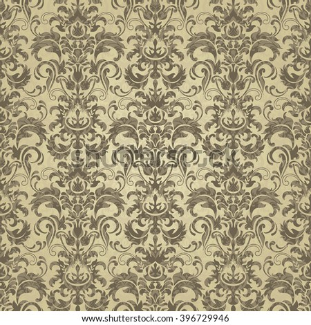Seamless damask pattern. Endless pattern can be used for ceramic tile, wallpaper, linoleum, web page background.