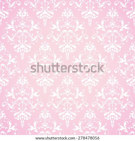 Seamless damask pattern. Ornamental lace background with pattern - stock vector