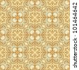Seamless damask pattern vintage style - stock vector