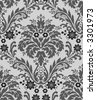 Seamless damask wallpaper pattern - stock vector