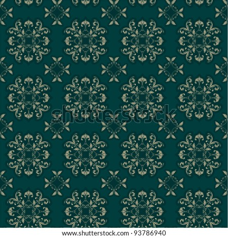 Seamless Damask Wallpaper/textile